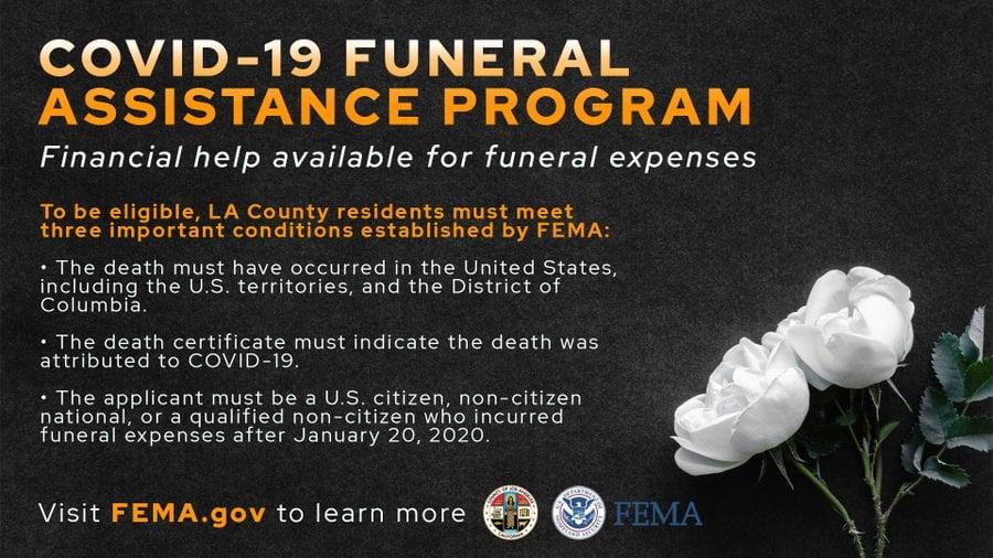 FEMA COVID Funeral info in English