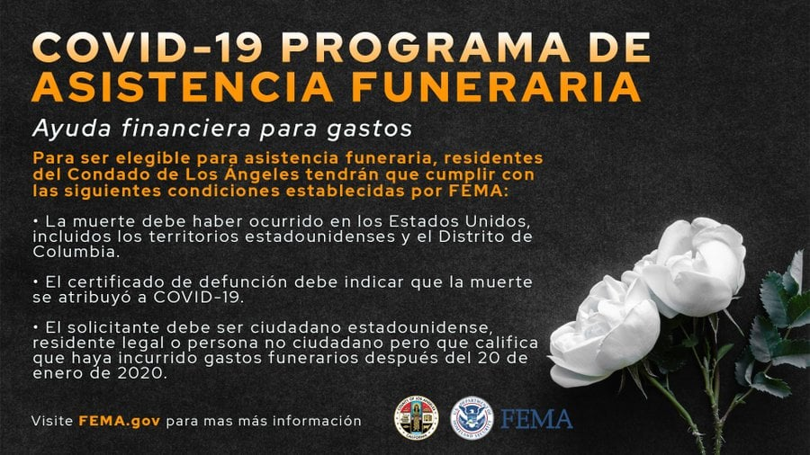 FEMA COVID Funeral info in Spanish
