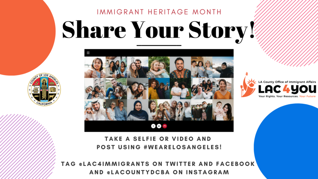 Share your story! take a selfie or video and post using hashtag we are los angeles